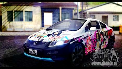 Honda Civic SI 2012 Itasha K-ON pour GTA San Andreas