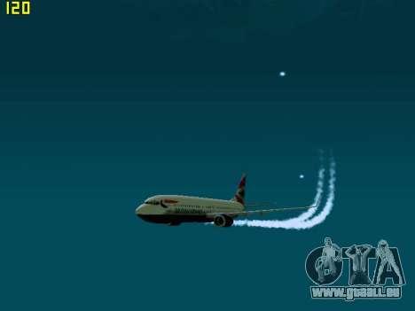 Boeing 737-800 British Airways pour GTA San Andreas laissé vue