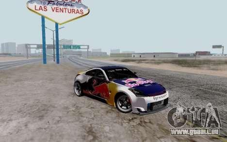Nissan 350Z Red Bull pour GTA San Andreas sur la vue arrière gauche