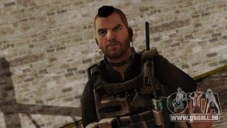 Modern Warfare 2 Skin 17 pour GTA San Andreas troisième écran