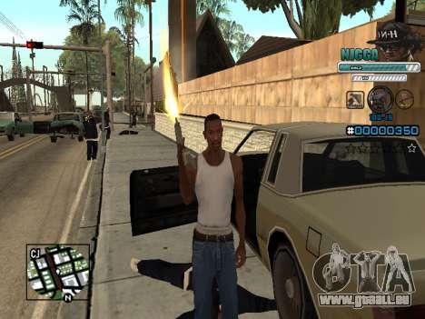 C-HUD Mann in einem Cap für GTA San Andreas her Screenshot