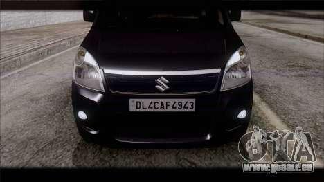 Suzuki Wagon R 2010 für GTA San Andreas Rückansicht