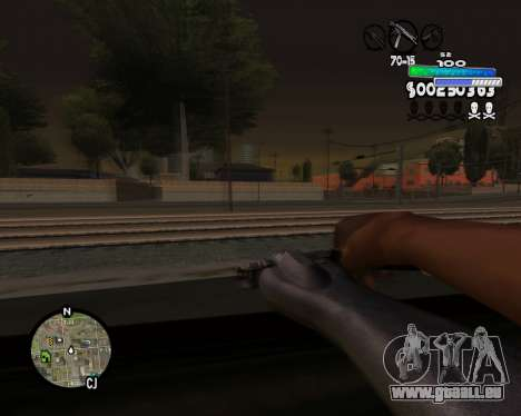 С-HUD Metro für GTA San Andreas her Screenshot