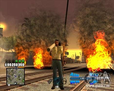 C-HUD Big Cull pour GTA San Andreas deuxième écran