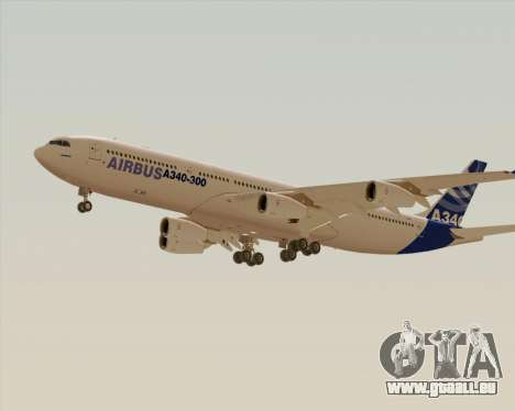 Airbus A340-300 Airbus S A S House Livery für GTA San Andreas rechten Ansicht