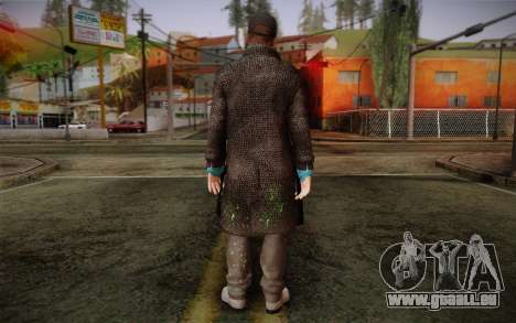 Aiden Pearce from Watch Dogs v3 für GTA San Andreas zweiten Screenshot