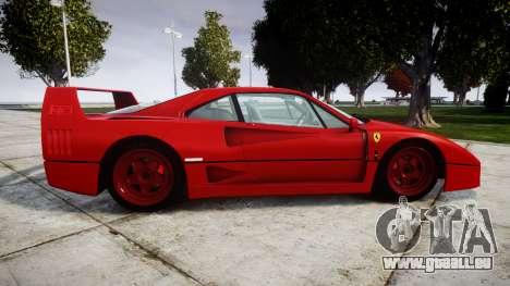 Ferrari F40 1987 [EPM] Tricolore für GTA 4 linke Ansicht