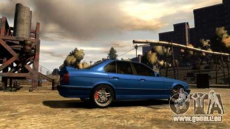 BMW M5 E34 1995 pour GTA 4 Vue arrière de la gauche