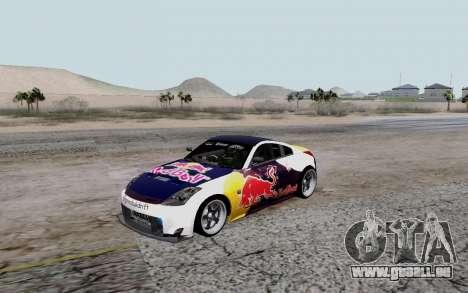 Nissan 350Z Red Bull pour GTA San Andreas vue arrière