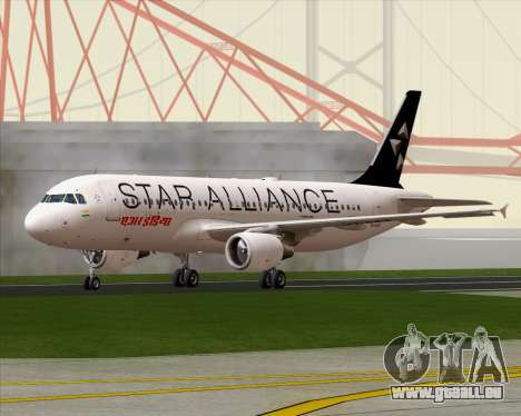 Airbus A320-200 Air India (Star Alliance Livery) für GTA San Andreas rechten Ansicht