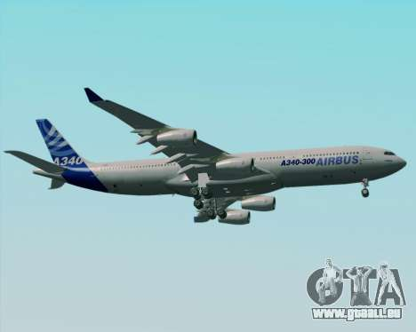 Airbus A340-300 Airbus S A S House Livery für GTA San Andreas obere Ansicht