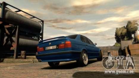 BMW M5 E34 1995 pour GTA 4 est une gauche