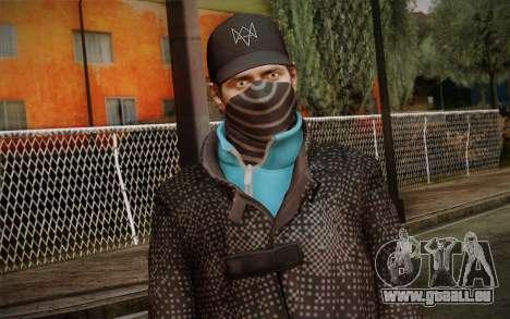Aiden Pearce from Watch Dogs v3 pour GTA San Andreas troisième écran