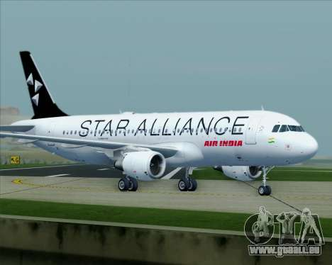 Airbus A320-200 Air India (Star Alliance Livery) für GTA San Andreas obere Ansicht
