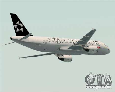 Airbus A320-200 Air India (Star Alliance Livery) für GTA San Andreas Innenansicht