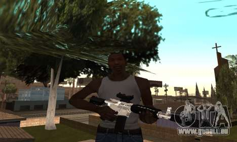 Chrome M4 pour GTA San Andreas deuxième écran