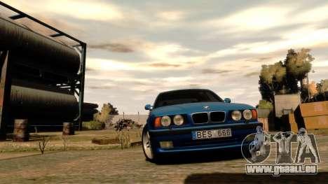 BMW M5 E34 1995 pour GTA 4 est une vue de l'intérieur