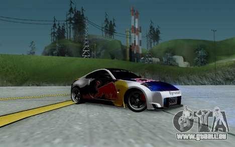 Nissan 350Z Red Bull pour GTA San Andreas vue de dessous
