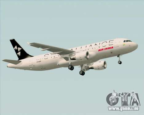 Airbus A320-200 Air India (Star Alliance Livery) für GTA San Andreas Räder