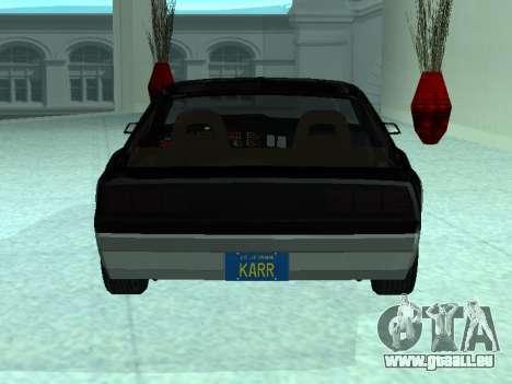 Pontiac Trans-Am K. A. R. R. für GTA San Andreas rechten Ansicht