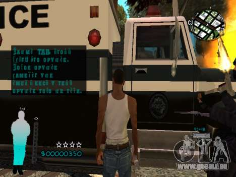 FBI HUD für GTA San Andreas sechsten Screenshot