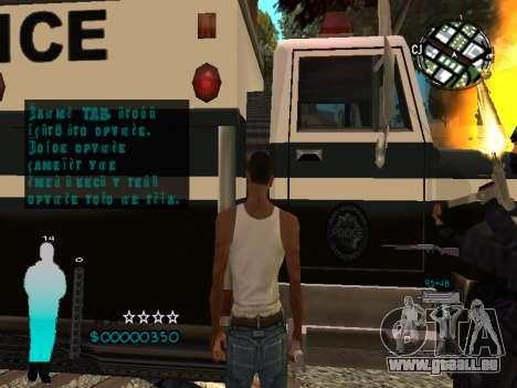 FBI HUD für GTA San Andreas sechsten Screenshot