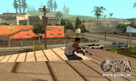 Chrome M4 pour GTA San Andreas troisième écran