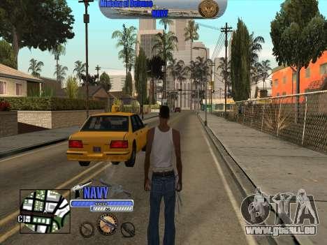 C-HUD Navy - ВМФ für GTA San Andreas zweiten Screenshot