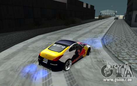 Nissan 350Z Red Bull für GTA San Andreas obere Ansicht