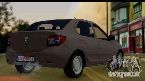 Dacia Logan 2013 pour GTA San Andreas laissé vue