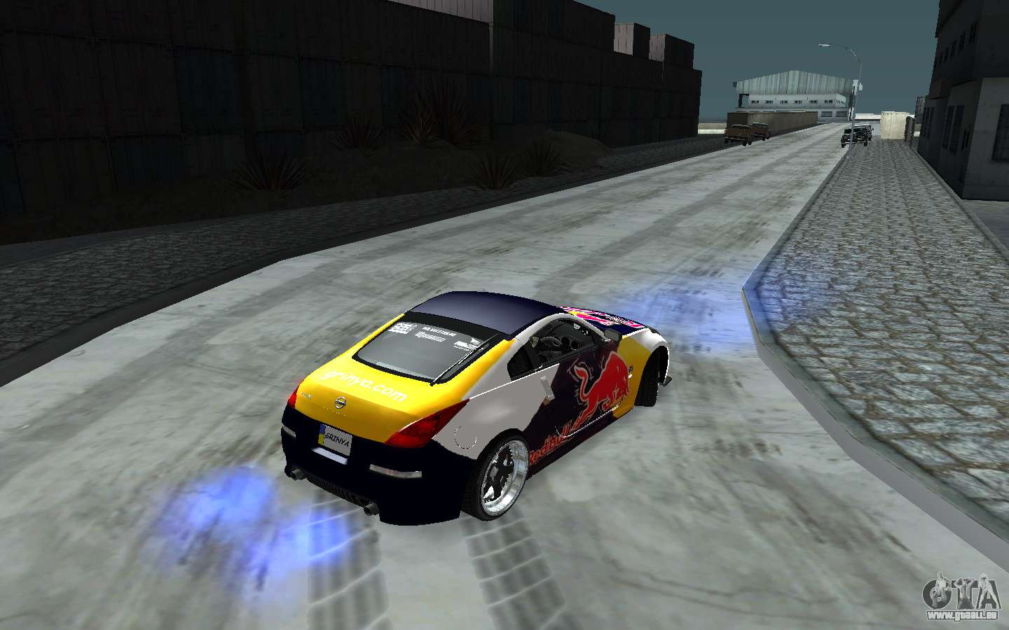 nissan 350z red bull pour gta san andreas. Black Bedroom Furniture Sets. Home Design Ideas