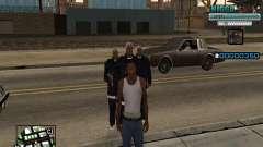 C-HUD Mann in einem Cap für GTA San Andreas