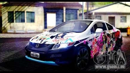 Honda Civic SI 2012 Itasha K-ON für GTA San Andreas
