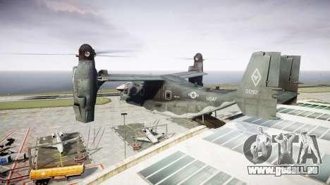 Bell CV-22 Osprey [EPM] pour GTA 4 est une vue de l'intérieur