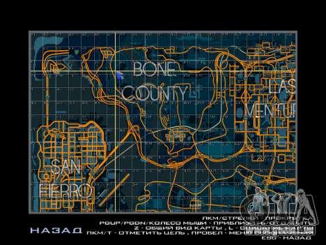 Carte des secteurs dans le style de course pour GTA San Andreas troisième écran