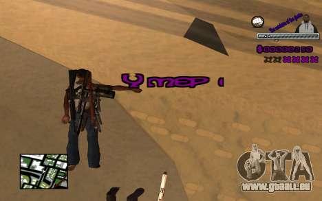 С-HUD Ghetto pour GTA San Andreas quatrième écran