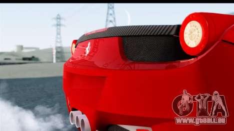 Ferrari 458 Italia Stanced für GTA San Andreas rechten Ansicht