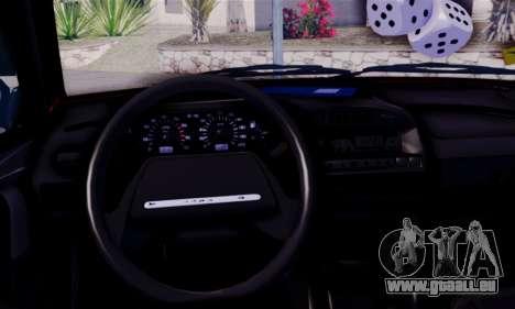 Lada 2109 pour GTA San Andreas sur la vue arrière gauche