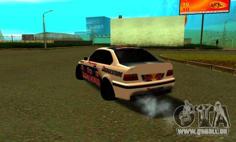 BMW M3 E36 RedBull pour GTA San Andreas sur la vue arrière gauche