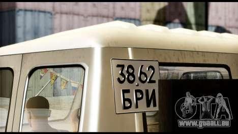 MAZ 504 pour GTA San Andreas sur la vue arrière gauche