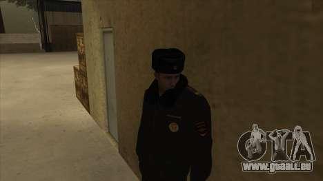 La Police en Russie, l'hiver formulaire pour GTA San Andreas troisième écran