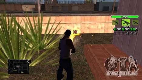 Light Green C-HUD pour GTA San Andreas troisième écran