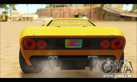 Vapid Bullet Gt (GTA V TBoGT) pour GTA San Andreas vue de droite