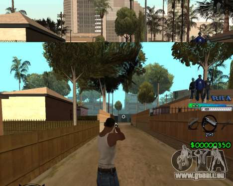 C-HUD Rifa für GTA San Andreas her Screenshot
