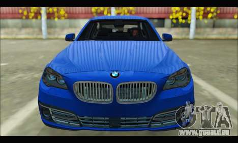 BMW 5 series F10 2014 pour GTA San Andreas vue arrière