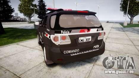 Toyota Hilux SW4 2015 ROTA [ELS] für GTA 4 hinten links Ansicht