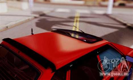 Lada 2109 pour GTA San Andreas vue intérieure
