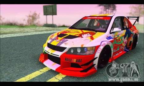 Mitsubishi Lancer Evo IX Hirasawa Yui K-ON Itash für GTA San Andreas