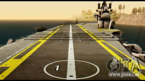 Colossus Aircraft Carrier für GTA San Andreas zurück linke Ansicht