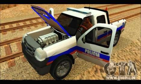 Ford Ranger 2011 Policia Bonaerense pour GTA San Andreas vue de droite